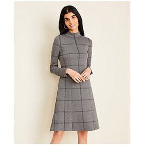 Ann Taylor | Long Sleeve Mock Neck Fit and Flare